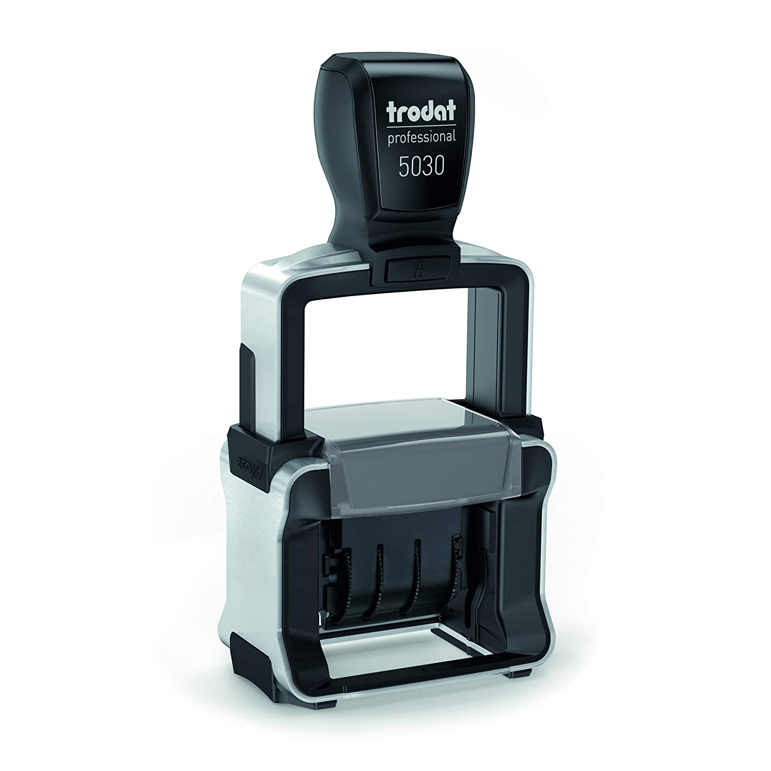344b7d30c184 Trodat Professional 4.0 Date Stamp, Dater, Self-Inking, Impression Size: 1  5/8 x 3/8 Inches, Black (T5030)