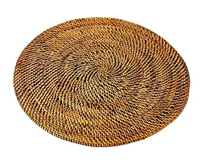 Strange Amazon Com Rattan Placemats Round Placemat Nito Vines Interior Design Ideas Clesiryabchikinfo