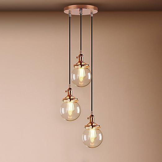 Captivating Pathson Industrial Modern Vintage Loft Bar Edison Ceiling Pendant Lights  Fitting Cluster Multi Lights Switch