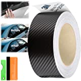 Free Tool Kit 3M 1080 Carbon Fiber Black Vinyl Wrap Kit for Black Out Chrome Delete Window Trim Door Trim 2' x25Ft