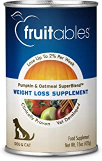 product image for Fruitables Pumpkin Dog Weight Loss Supplement, 15-Ounce Can,Pack Of 12