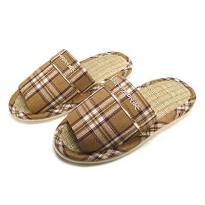 KNP26019T/Men Wide Width Size Bamboo Indoor Slippers | Slippers