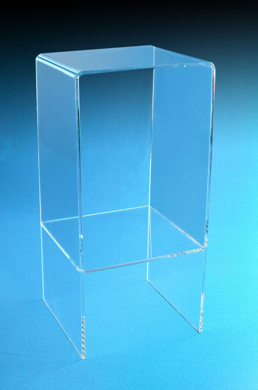 Two Shelf Riser Table | Double Riser | 30'' Tall Display Riser | End Table | Display Stand by Choice Acrylic Displays