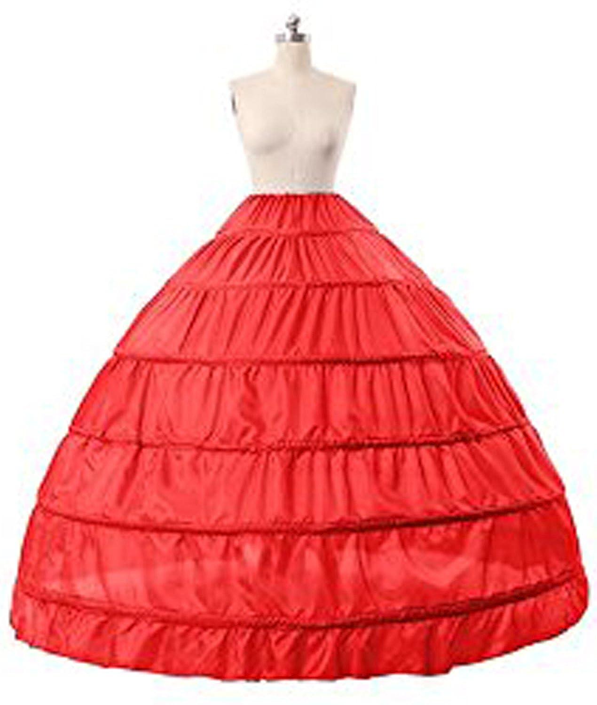 AliceHouse Womens 6-Hoop Slip Floor Length Wedding Petticoat Ball Gown Crinoline CQ1