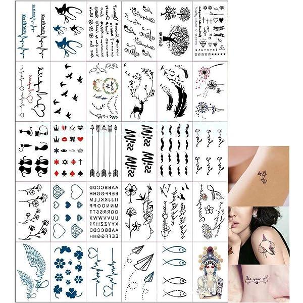 Konsait Tatuajes Temporales para Adultos Mujeres Niños (30 Hojas ...