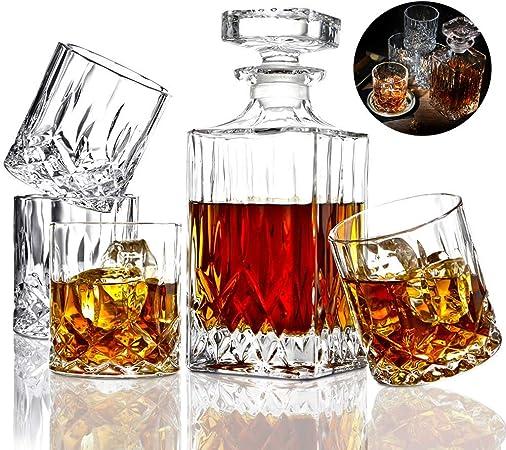 Whisky La Jarra, Whiskey Jarra Y Vasos, Decorado con 5 Pieza ...