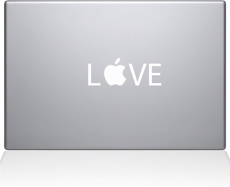 The Decal Guru Love Apple MacBook Decal Vinyl Sticker 0203-MAC-11A-W 11 MacBook Air White