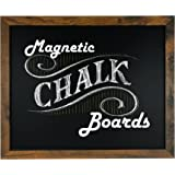 """Loddie Doddie Magnetic Chalkboard - 18"""" x 22"""" Magnetic Chalkboard for Wall Decor - Easy to Erase Chalkboard Rustic Frame for"""