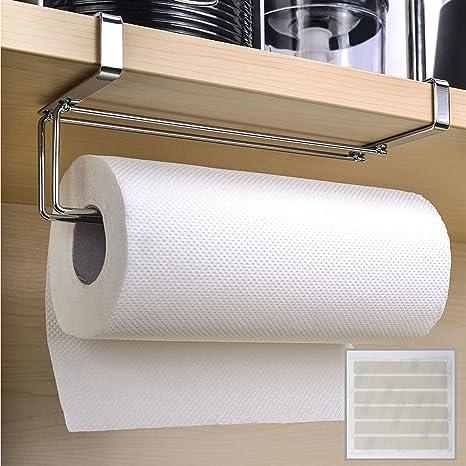 Under Cupboard Shelf Towel Roll Holder Storage Kitchen Bathroom Cabinet Supplies