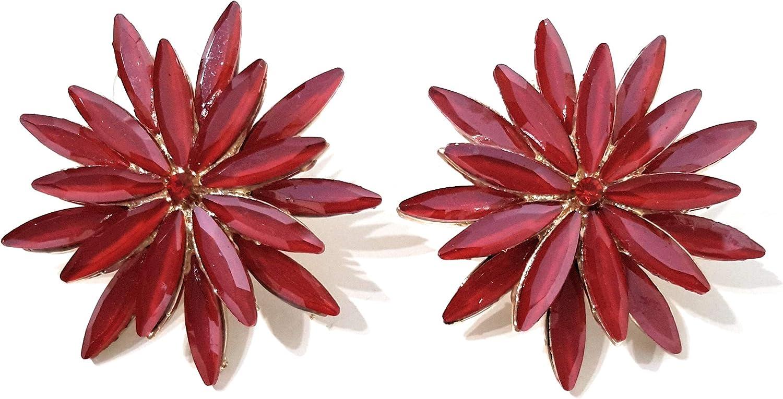 Pendientes cristales colores mujer fiesta boda pendientes elegantes con forma de flor