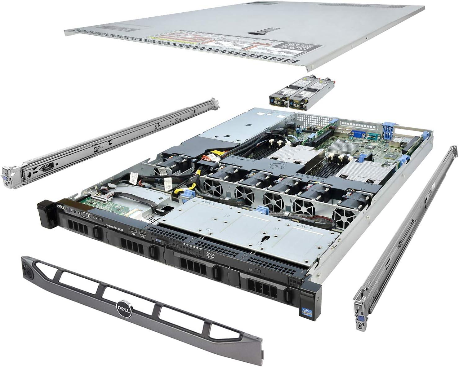 Dell PowerEdge R420 Server 2X E5-2430 2.20Ghz 12-Core 48GB 4X 1TB H710 Rails (Renewed)