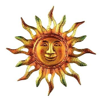 Metallic Sun Wall Art, Multi, Iron