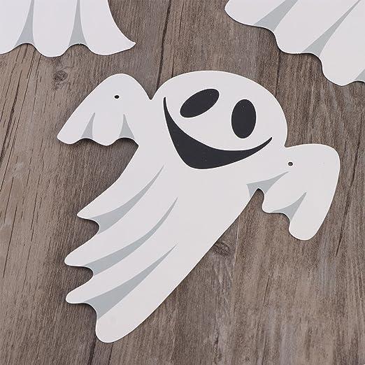 BESTOYARD Halloween Bunting Banner Nette Ghost Streamer Garland Fahnen Papier Kette Halloween Dekoration Bar Haus Party Dekorative H/ängen Ornamente 3 Mt