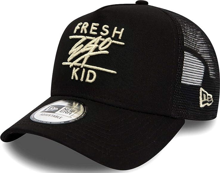Fresh Ego Kid New Era  A-Frame Black//Cream Trucker Cap
