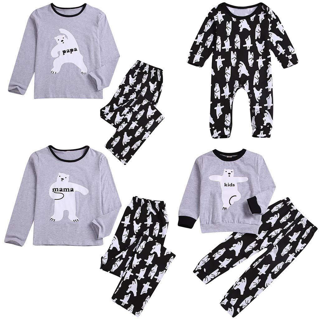 Conjunto de Pijamas Familiares, Tops de Osos de Dibujos ...