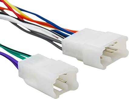 Amazon.com: Scosche TA02B Wire Harness to Connect An Aftermarket Stereo  Receiver for Select 1987-Up Toyota Vehicles: Car ElectronicsAmazon.com