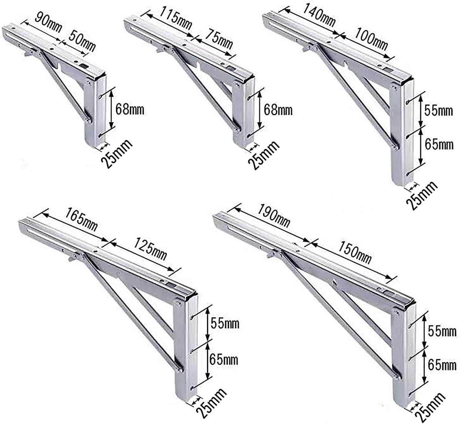 Tragkraft bis 150 kg f/ür die Wand-Montage Wandkonsole von SO-TECH/® 1 Paar Schwerlast- Klappkonsolen echt Edelstahl 200 x 120 mm