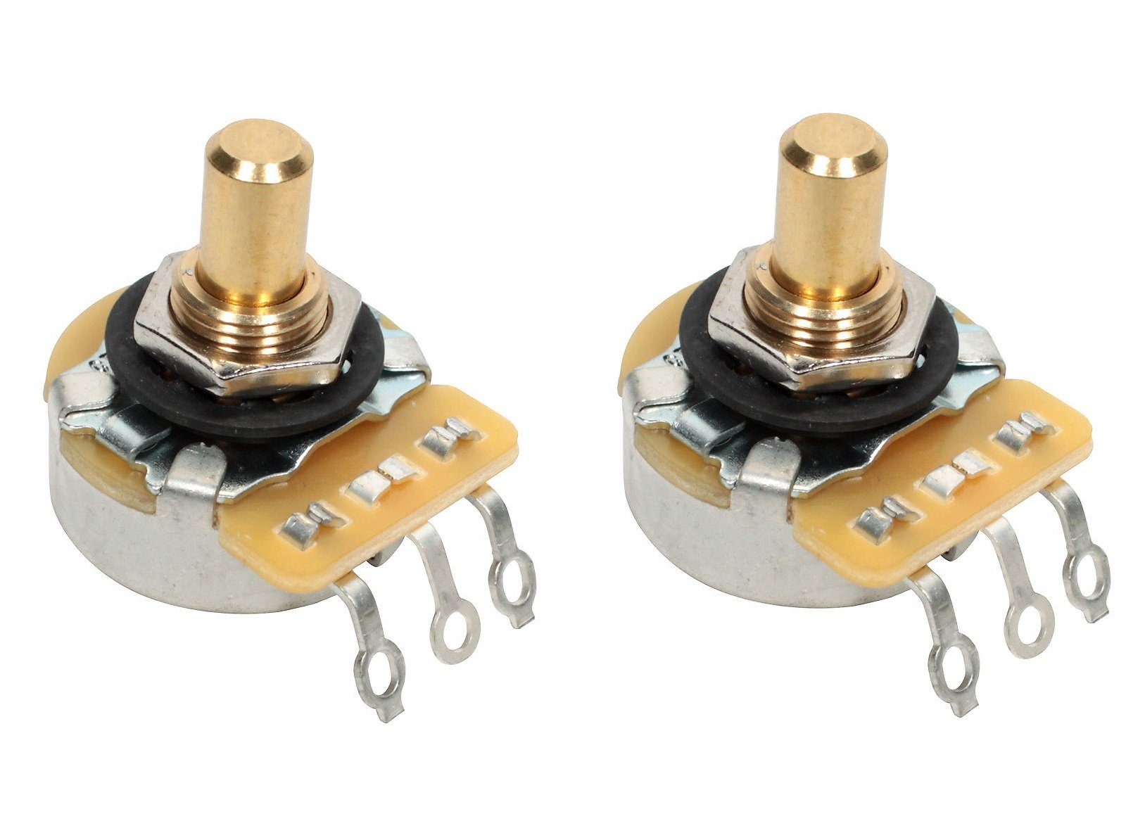CTS 250K Short SOLID Shaft Audio Potentiometer/Pot - 450G Series - PAIR (2X)