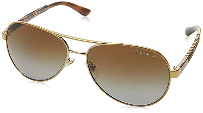 d37a3e1b57 Vogue Polarized Aviator Women s Sunglasses - (0VO3997S848 T558