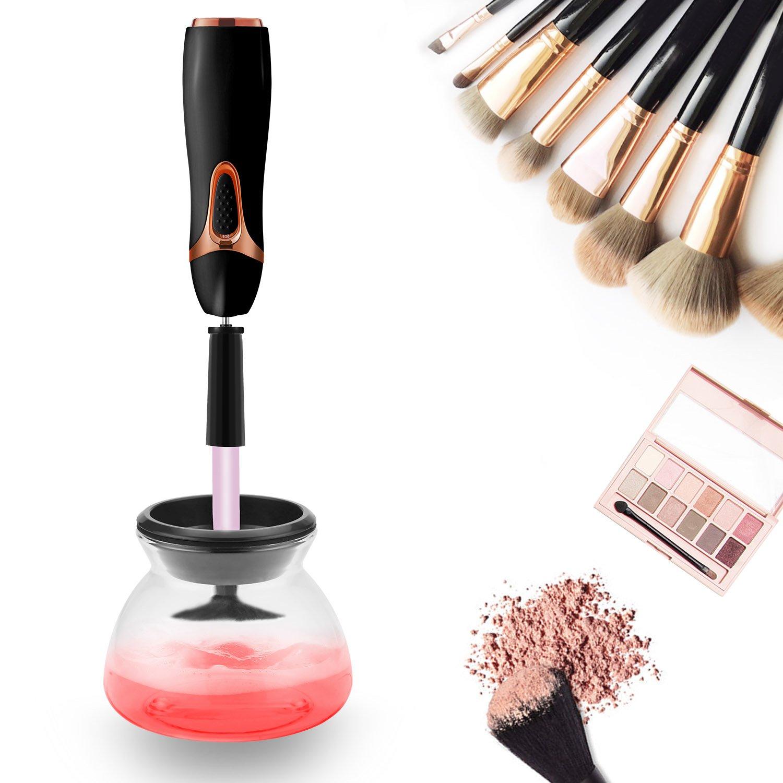 Limpiador y Secador de Brochas de Maquillaje, Completamente Limpio y Seco en Segundos, Rotación de 360 Grados con 8 Sostenedores de Goma, Se Ajusta para ...