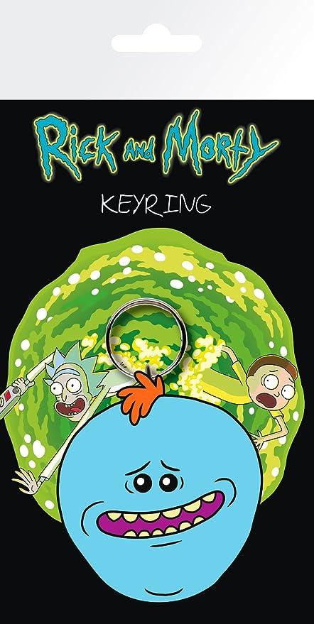 GYE Rick Y Morty Meeseeks Llavero, Metal, Multicolor, Unico ...