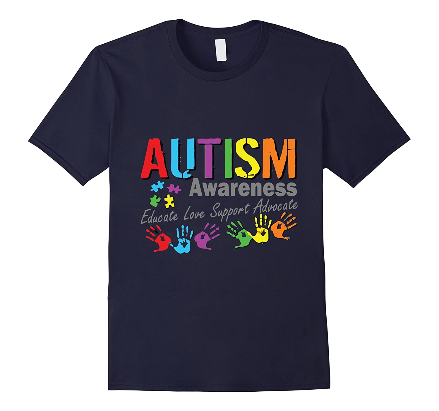 Autism Awareness Educate Love Support Advocate T-Shirt-BN