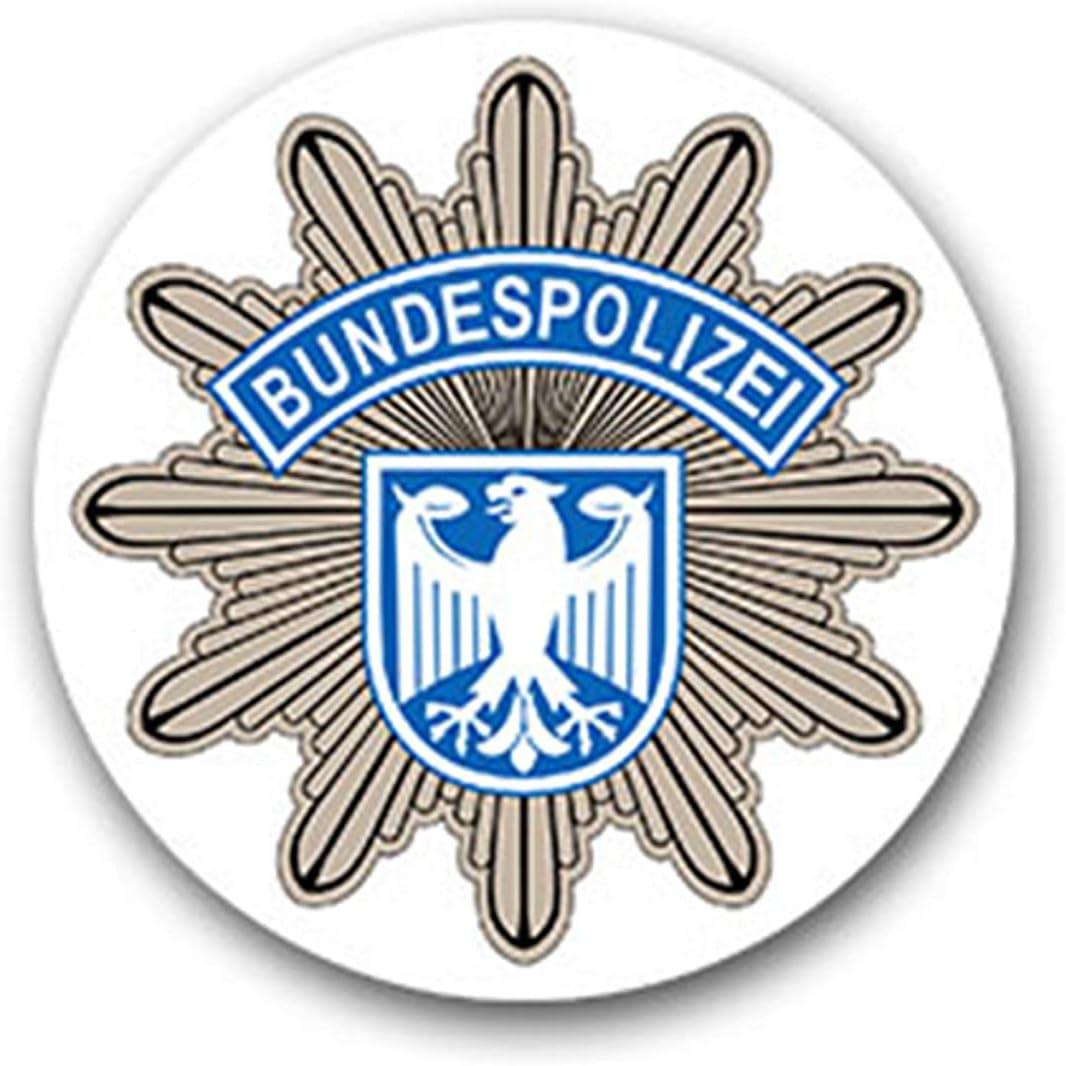 Pegatinas de la policía Alemana 2 BPOL de la República Federal de Alemania 7 x 7 cm A1850: Amazon.es: Coche y moto