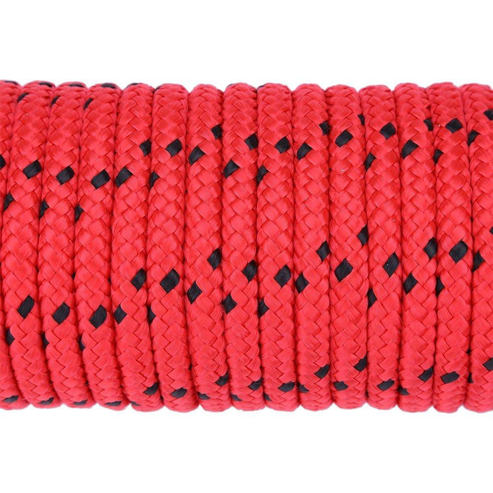 Alomejor Corda ad Alta Resistenza Esterna 3 Colori 20m Corda ad Arrampicata statica Corda ad Alta Resistenza con Corda Intrecciata in Fibra di Polipropilene