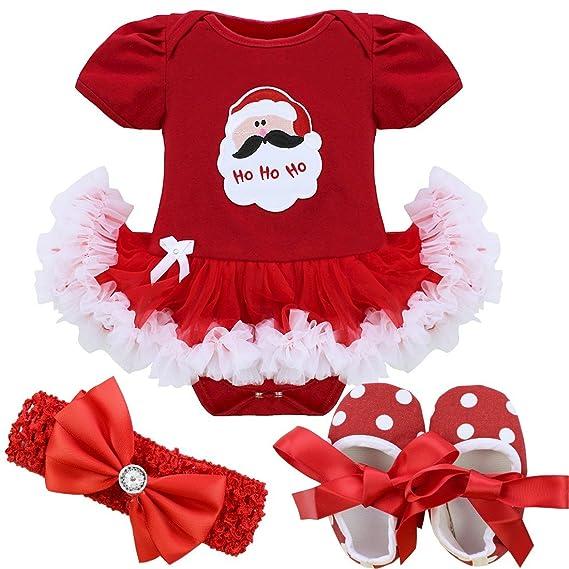 iEFiEL Vestidos de Princesa Carnaval Fiesta Estilo de Pelele Conjunto Infantil Invierno para Bebé Niña Recién Nacidos: Amazon.es: Ropa y accesorios