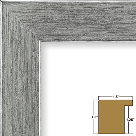Tall Profile Craig Frames 595431218 12x18 Inch Modern Brushed Silver Picture Frame Bauhaus 59 1.5 Wide