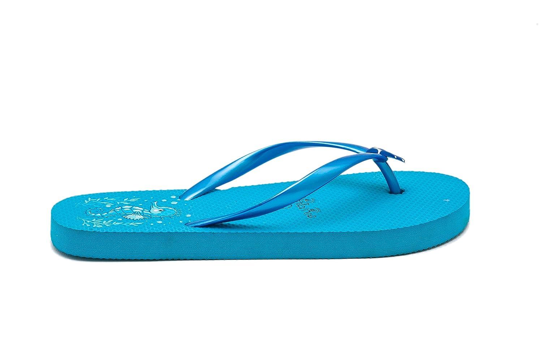 Muster Airee Fairee Zehentrenner Damen Flip Flops M/ädchen Sommer Sandalen Schwimmbad Schuhe Seepferdchen