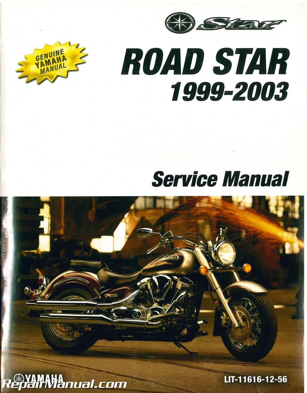 LIT-11616-12-56 1999-2003 Yamaha Road Star XV1600 Motorcycle Service Manual:  Manufacturer: Amazon.com: Books