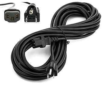 vizio tv cable. amamax 25 feet extra long ac power cord cable for vizio tv 3 prong (nema tv h