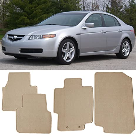 amazon com floor mat fits 2004 2008 acura tl front rear beige rh amazon com 2002 Acura TL Service Manual 2004 Acura TL Manual Book