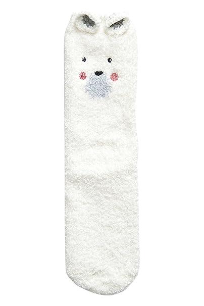 next Mujer Calcetines Para Dormir En Una Caja Blanco Oso Polar Talla única: Amazon.es: Ropa y accesorios