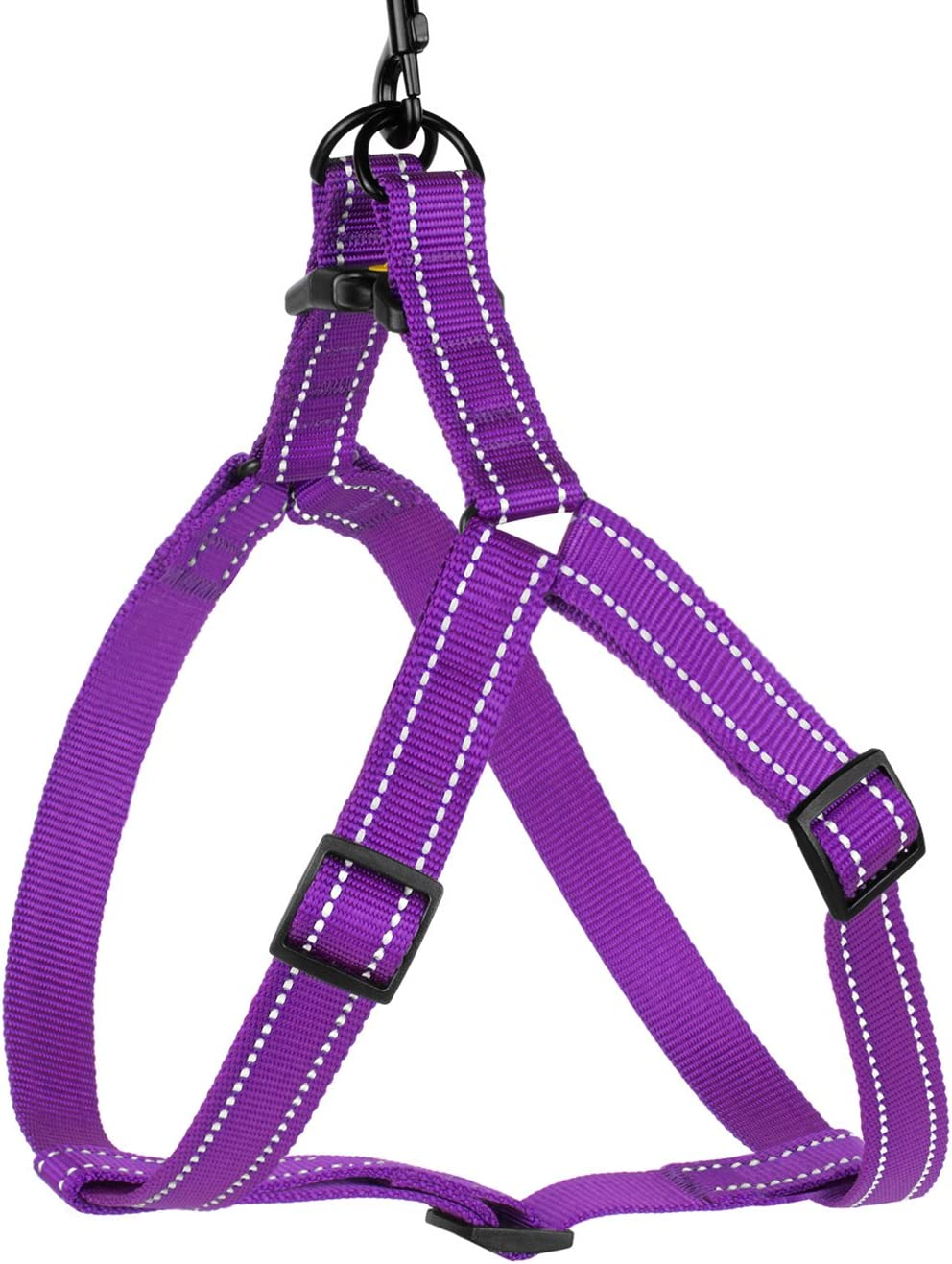 Comfort Adjustable Harnesses for Dogs Puppy Pink Black Red Purple Mint Green Orange Blue CollarDirect Reflective Dog Harness Step in Small Medium Large for Outdoor Walking