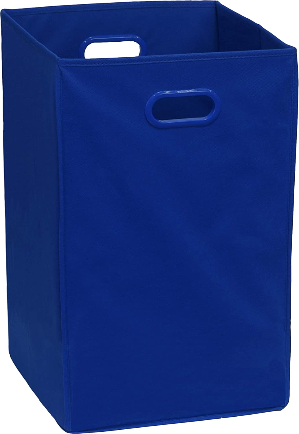 Simple Houseware Foldable Closet Laundry Hamper Basket, Dark Blue