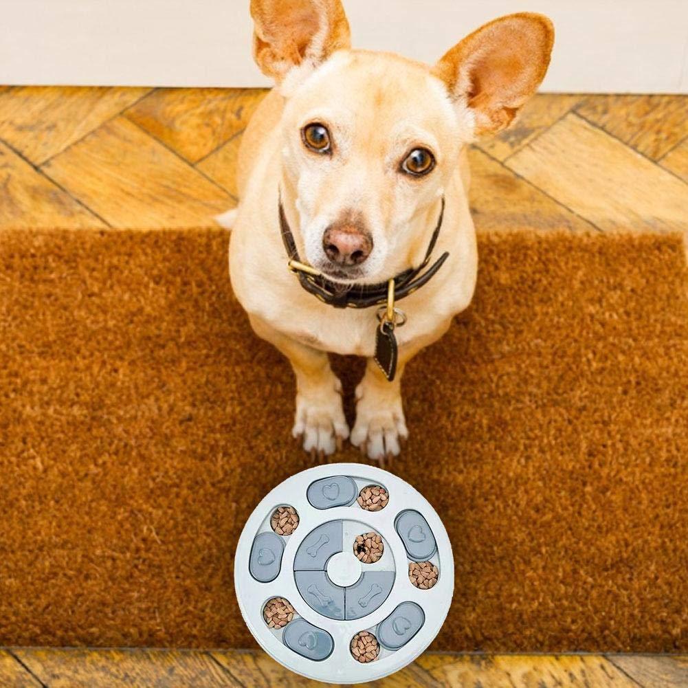 dispensador de golosinas para Perros Juguetes Alimentador de Rompecabezas Alimentador de Juegos de Entrenamiento de Perros para Cachorros peque/ño Perro wonderday Alimentador Lento para Perros