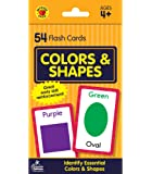 Carson Dellosa - Colors and Shapes Flash Cards - 54 Cards for Toddler / Preschool Learning, Skill Development and Identification, Ages 4+