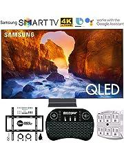 "$2497 Get Samsung QN65Q90RA 65"" Q90 QLED Smart 4K UHD TV (2019 Model) - (Renewed) w/Flat Wall Mount Kit Bundle for 45-90 TVs + 2.4GHz Wireless Backlit Keyboard Smart Remote + 6-Outlet Surge Adapter"