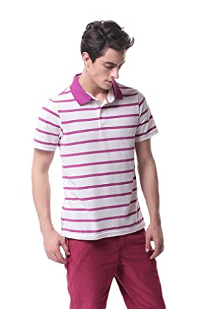 Pau1Hami1ton T-08 Mens Solid Polo T-Shirt Short-Sleeve Stripe ...