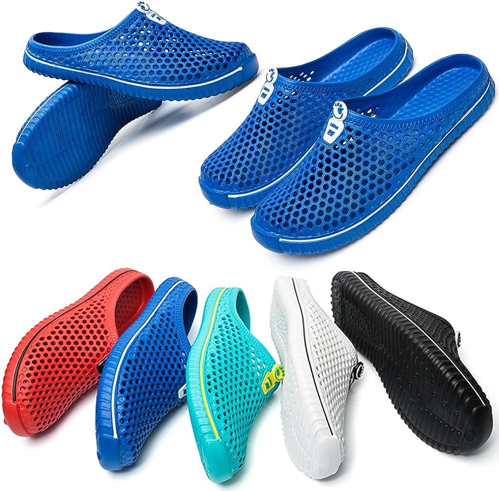 BIGU Unisexe Chaussures Sabots Respirant Chaussures de Jardin D/Ét/é Hommes Femmes Piscine Sandales Chaussons