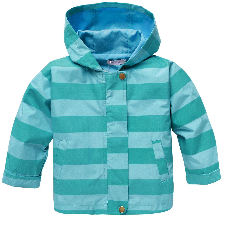 Arshiner Regenjacke Kinder Junge M/ädchen Streifen Wasserdicht Winddicht Atmungsaktiv Regenmantel Raincoat mit Kapuze