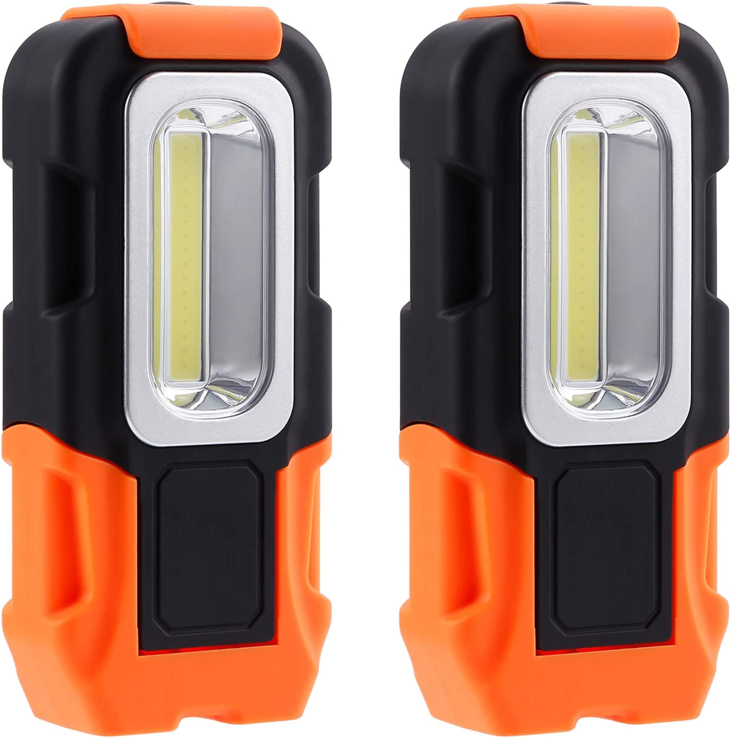 LED Flashlight Worklight Lamp Portable w// Magnetic Hook Outdoor Hiking Camping