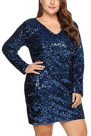 19c8b0ab9 Fasumava Mini Vestidos Bodycon De Lentejuelas Calientes De Invierno De  Talla Grande para Mujer  Amazon.es  Ropa y accesorios