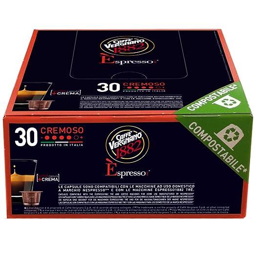 16 opinioni per Caffè Vergnano 1882 Èspresso1882 Cremoso- 30 Capsule- Compatibili Nespresso