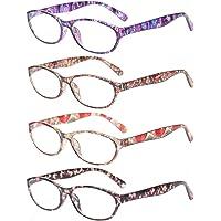 anteojos de lectura con diseño floral, para mujer