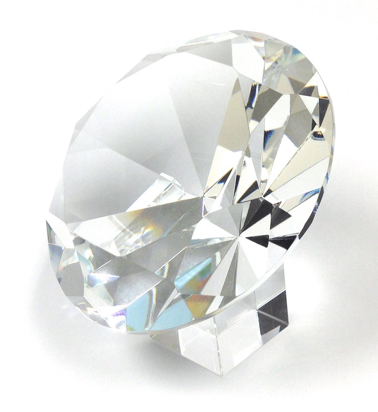 Amlong Crystal 120mm 5'' Crystal Diamond Jewel Paperweight With Gift Box