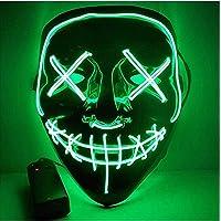 LED-horrormasker - alsof het bestuurbaar is vanuit Purge, voor Halloween, Mardi Gras & Carnaval als kostuum voor mannen…