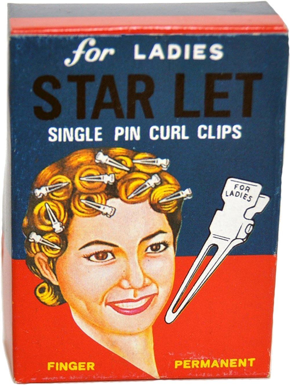 30 Stück Rockabilly ca 50s STARLET Wasserwellen Vintage HAARCLIPS Clips
